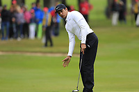 Julian Suri (USA) putts on the 1st green during Saturday's Round 3 of the 2017 Omega European Masters held at Golf Club Crans-Sur-Sierre, Crans Montana, Switzerland. 9th September 2017.<br /> Picture: Eoin Clarke | Golffile<br /> <br /> <br /> All photos usage must carry mandatory copyright credit (&copy; Golffile | Eoin Clarke)