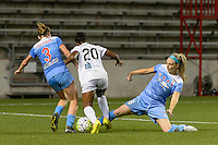 Chicago, IL - Wednesday Sept. 07, 2016: Arin Gilliland, Tiffany McCarty, Julie Johnston during a regular season National Women's Soccer League (NWSL) match between the Chicago Red Stars and FC Kansas City at Toyota Park.