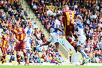 Charlie Wyke of Bradford City scores during the Sky Bet League 1 match between Bradford City and Bristol Rovers at the Northern Commercial Stadium, Bradford, England on 2 September 2017. Photo by Thomas Gadd.
