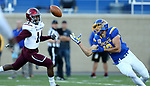 BROOKINGS, SD - OCTOBER 7: Jake Wieneke #19 from South Dakota State University tries to catch the ball in front of Tory Lewis #14 from Southern Illinois in the first half of their game Saturday night at Dana J. Dykhouse Stadium in Brookings. (Photo by Dave Eggen/Inertia)