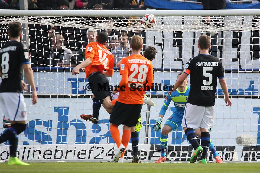 Kopfballchance Leon Balogun (SV98)- FSV Frankfurt vs. SV Darmstadt 98, Frankfurter Volksbank Stadion