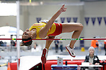 12 MAR 2011: Kinsey Bak of Simpson (Iowa) high jumps during the Division III Men's and Women's Indoor Track and Field Championships held at the Capital Center Fieldhouse on the Capital University campus in Columbus, OH.  Jay LaPrete/NCAA Photos