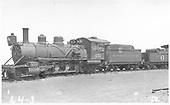 3/4 view of K-27 #451 at Alamosa being scrapped.<br /> D&amp;RGW  Alamosa, CO  Taken by Rogers, Donald E. A. - 7/28/1935