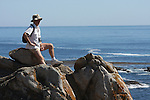 Hiker at Point Lobos State Reserve