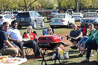 Piscataway, NJ, April 24, 2016.  Fans enjoy a tailgate prior to the match between Sky Blue FC and the Washington Spirit..  The Washington Spirit defeated Sky Blue FC 2-1 during a National Women's Soccer League (NWSL) match at Yurcak Field.