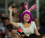 Action on Day 1 of the Cathay Pacific / HSBC Hong Kong Sevens 2013 at Hong Kong Stadium, Hong Kong. Photo by Xaume Olleros / The Power of Sport Images
