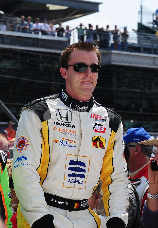 May 30, 2010; Indianapolis, IN, USA; IndyCar Series driver Bertrand Baguette (36) during the Indianapolis 500 at the Indianapolis Motor Speedway. Mandatory Credit: Mark J. Rebilas-