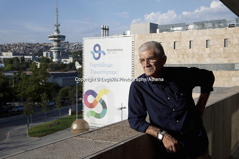 Pictured: Yiannis Boutaris, city mayor of Thessaloniki in Northern Greece at the Civic Hall. Wednesday 22 August 2012