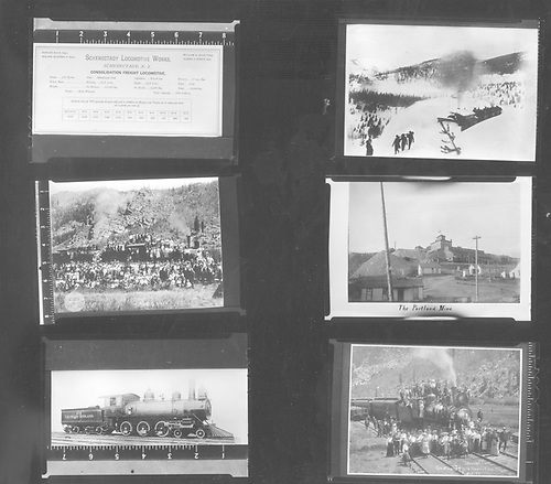 Sheet of six 2&quot;x3&quot; images of Colorado Midland scenes.<br /> Colorado Midland