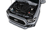 Car stock 2018 Toyota Tacoma TRD Sport Double Cab 4 Door Pick Up engine high angle detail view