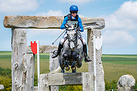 AUS-Catherine Burrell rides Milan during the Cross Country for the CCI4*-S Section C. 2019 GBR-Barbury Castle International Horse Trial. Wiltshire, Great Britain. Sunday 7 July. Copyright Photo: Libby Law Photography