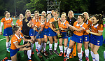 BLOEMENDAAL  - Hockey -  finale KNHB Gold Cup dames, Bloemendaal-HDM . Bloemendaal wint na shoot outs.  links Pien Tol (Bldaal)  COPYRIGHT KOEN SUYK
