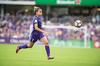 Orlando, FL - Saturday April 22, 2017: Steph Catley during a regular season National Women's Soccer League (NWSL) match between the Orlando Pride and the Washington Spirit at Orlando City Stadium.