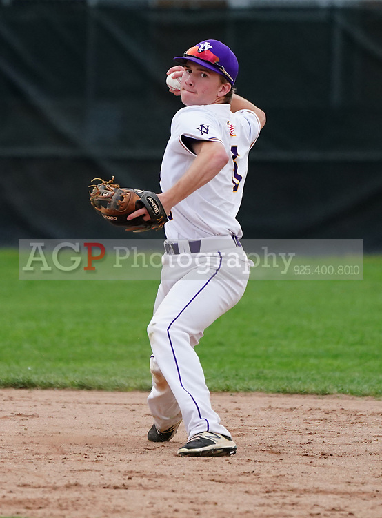 De La Salle at Amador Valley High School  varsity baseball at Amador Valley High School in Pleasanton, CA Wednesday, April 3, 2019. (Photo by Alan Greth)