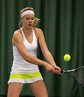 March 13, 2015, Netherlands, Rotterdam, TC Victoria, NOJK, Nina Kruijer (NED)<br /> Photo: Tennisimages/Henk Koster