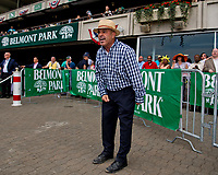 ELMONT, NY - JUNE 09: A man yells during an undercard race as his horse takes the lead during Belmont Stakes Day at Belmont Park on June 9, 2018 in Elmont, New York. (Photo by Scott Serio/Eclipse Sportswire/Getty Images)