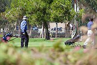 Golfers at the Putting Green at Cerritos Iron-Wood Golf Course