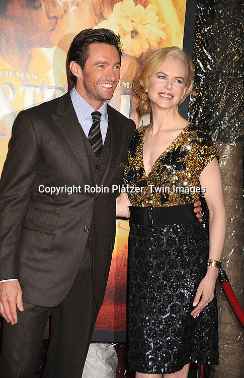 "Hugh Jackman and Nicole Kidman..posing for photographers at The New York Movie Premiere of ""Australia"" on November 24, 2008 at The Ziegfeld Theatre. ....Robin Platzer, Twin Images....212-935-0770"