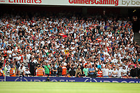 Pictured: Swansea City fans in action. Saturday 10 September 2011<br />