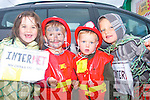 5915-5918.---------.Kids Fun.--------.Taking part in the Parade last Sunday at the final day of the 2011 Summer festival in Castlegregory were locals L-R Bronagh O'Connor, Dylan O'Sullivan with Brehan & Tadhg O'Connor.