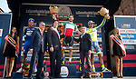 Italian National Champion Giacomo Nizzolo (ITA) Nazionali Italiana wins the 100th Gran Piemonte NamedSport 2016 cycle race, with Fernando Gaviria (COL) Etixx Quick-Step 2nd and Daniela Bennati (ITA) Tinkoff 3rd, starting at Diano d'Alba and running 207km finishing at Agliè, Italy. 29th September 2016.<br /> Picture: ANSA/Claudio Peri | Newsfile<br /> <br /> <br /> All photos usage must carry mandatory copyright credit (© Newsfile | Claudio Peri)