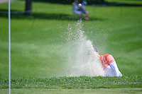 Azahara Munoz (ESP) hits from the trap on 10 during round 2 of the 2018 KPMG Women's PGA Championship, Kemper Lakes Golf Club, at Kildeer, Illinois, USA. 6/29/2018.<br /> Picture: Golffile | Ken Murray<br /> <br /> All photo usage must carry mandatory copyright credit (&copy; Golffile | Ken Murray)