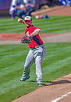 23 February 2013: Washington Nationals third baseman Chad Tracy in Spring Training action against the New York Mets at Tradition Field in Port St. Lucie, Florida. The Mets defeated the Nationals 5-3 in their Grapefruit League Opening Day game. Mandatory Credit: Ed Wolfstein Photo *** RAW (NEF) Image File Available ***