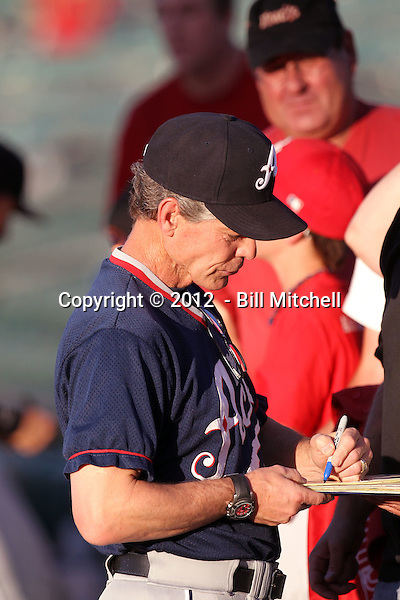 Brett Butler, manager - 2012 Reno Aces (Bill Mitchell)