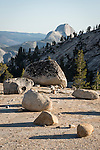 Half Dome from Olmstead Point, glacial erratics, Yosemite-Tioga Pass Highway