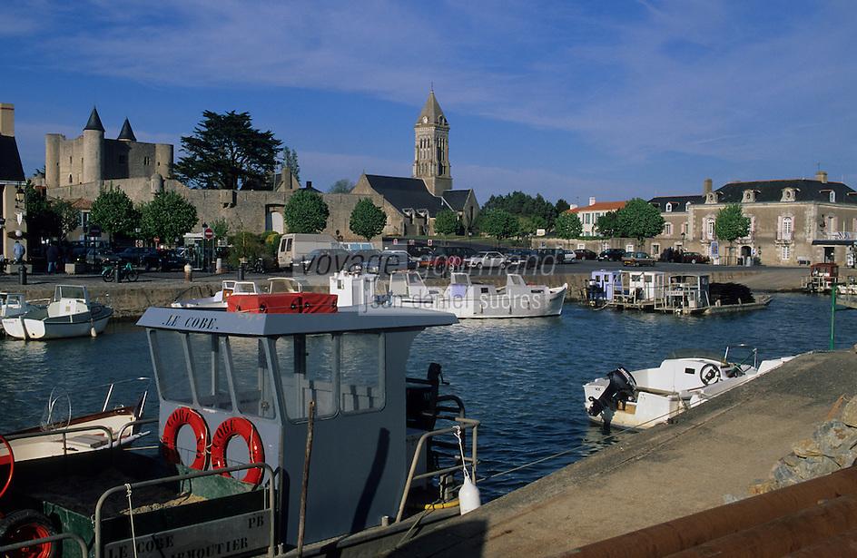 Europe/France/Pays de la Loire/85/Vendée/Ile de Noirmoutier/Noirmoutier-en-l'Ile: Le port et le Château (XIème)