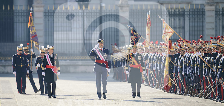 King Felipe VI during the Military Easter at Royal Palace in Madrid, Spain. January 06, 2017. (ALTERPHOTOS/BorjaB.Hojas)
