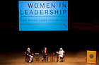 "SSept.16, 2013; Moderator Anne Thompson, of NBC News, Honorable Michele Flournoy and General Ann Dunwoody (right) speak on the topic ""Getting to the Top at the Pentagon,"" part of the 2013-14 Notre Dame Forum: ""Women in Leadership"" in Leighton Concert Hall at DeBartolo Performing Arts Center. Photo by Barbara Johnston/University of Notre Dame"