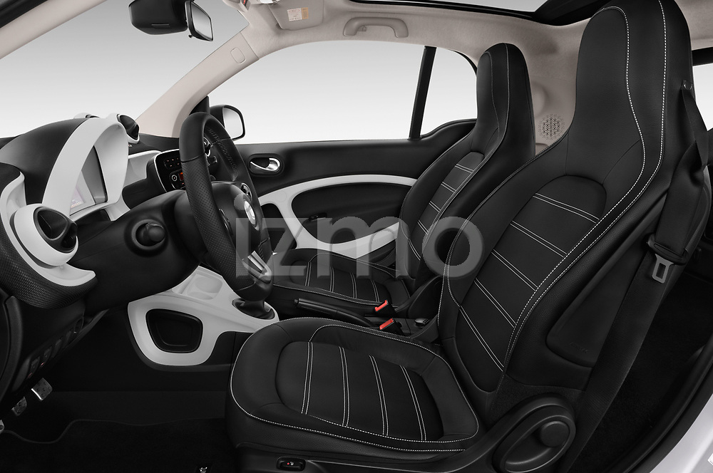 Front seat view of 2017 Smart fortwo prime 3 Door micro car front seat car photos