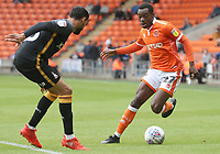 Blackpool's Marc Bola and Bradford City's Kelvin Mellor<br /> <br /> Photographer Rachel Holborn/CameraSport<br /> <br /> The EFL Sky Bet League One - Blackpool v Bradford City - Saturday September 8th 2018 - Bloomfield Road - Blackpool<br /> <br /> World Copyright &copy; 2018 CameraSport. All rights reserved. 43 Linden Ave. Countesthorpe. Leicester. England. LE8 5PG - Tel: +44 (0) 116 277 4147 - admin@camerasport.com - www.camerasport.com