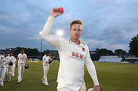 Simon Harmer of Essex raises the ball to the crowd having taken 14 wickets in the match during Essex CCC vs Middlesex CCC, Specsavers County Championship Division 1 Cricket at The Cloudfm County Ground on 29th June 2017