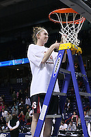 31 March 2008: Hannah Donaghe during Stanford's 98-87 win over the University of Maryland in the elite eight game of the NCAA Division 1 Women's Basketball Championship in Spokane, WA.