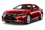 2019 Lexus RC 300h-Privilege-Line 2 Door Coupe Angular Front stock photos of front three quarter view