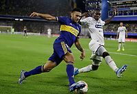 "BUENOS AIRES-ARGENTINA, 10-03-2020: Eduardo Salvio de Boca Juniors y Didier Delgado of de Deportivo Independiente Medellin disputan el balon durante partido de la fase de grupos, grupo H, fecha 2, entre Boca Juniors (ARG) y Deportivo Independiente Medellin (COL) por la Copa Conmebol Libertadores 2020, en el estadio Alberto Jose Armando ""La Bombonera"", de la ciudad Ciudad Autonoma de Buenos Aires. / Eduardo Salvio of Boca Juniors and Didier Delgado of Deportivo Independiente Medellin vie for the ball during a match of the groups phase, group H, 2nd date, between Boca Juniors (ARG) of Deportivo Independiente Medellin (COL) for the Conmebol Libertadores Cup 2020, at the Alberto Jose Armando ""La Bombonera"", in Ciudad Autonoma de Buenos Aires. VizzorImage / Javier Garcia Martino / Photogamma / Cont."