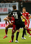 12.08.2018, Commerzbank - Arena, Frankfurt, GER, Supercup, Eintracht Frankfurt vs FC Bayern M&uuml;nchen , <br />DFL REGULATIONS PROHIBIT ANY USE OF PHOTOGRAPHS AS IMAGE SEQUENCES AND/OR QUASI-VIDEO.<br />im Bild<br />David Abraham (Frankfurt) foult Robert Lewandowski (M&uuml;nchen), Schlag ins Gesicht<br /> <br /> Foto &copy; nordphoto / Bratic