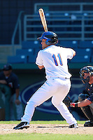 New York Mets minor league outfielder Cory Vaughn (39) during a game vs. the Minnesota Twins in an Instructional League game at City of Palms Park in Fort Myers, Florida;  October 4, 2010.  Photo By Mike Janes/Four Seam Images