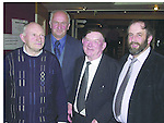Deputy Jackie Healy Rae TD at his general election  fundraising dance in The Gleneagle Hotel Killarney on Friday night with, from left, Timothy O' Sullivan, Beaufort, Arthur Lenihan, Ballymac and Danny Healy Rae, Kilgarvan..Pic: Eamonn Keogh (MacMonagle, Killarney) Jackie Healy-Rae, TD from the book by Don MacMonagle entitled 'Jackie - Keeping Up Appearances' published in 2002.