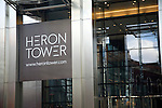 Heron Tower designed by architects Kohn Pedersen Fox, City of London, England