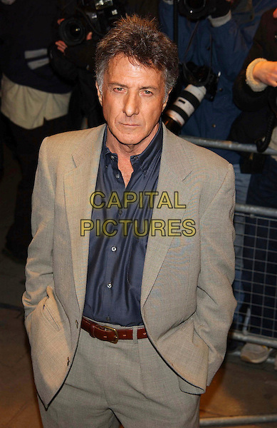 DUSTIN HOFFMAN.Empire Awards 2003, Dorchester Hotel, London, UK..February 2nd, 2003.half length suit beige suit grey gray.CAP/PL.©Phil Loftus/Capital Pictures