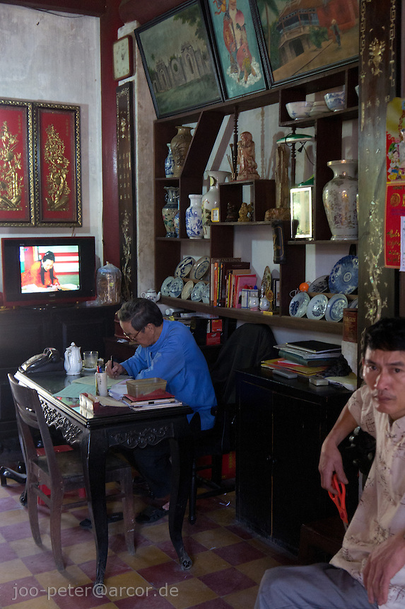 office in a temple in Hoi An city, Vietnam