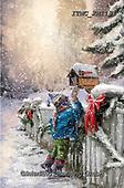 Marcello, CHRISTMAS CHILDREN, WEIHNACHTEN KINDER, NAVIDAD NIÑOS, paintings+++++,ITMCXM1131,#xk# ,playing in snow