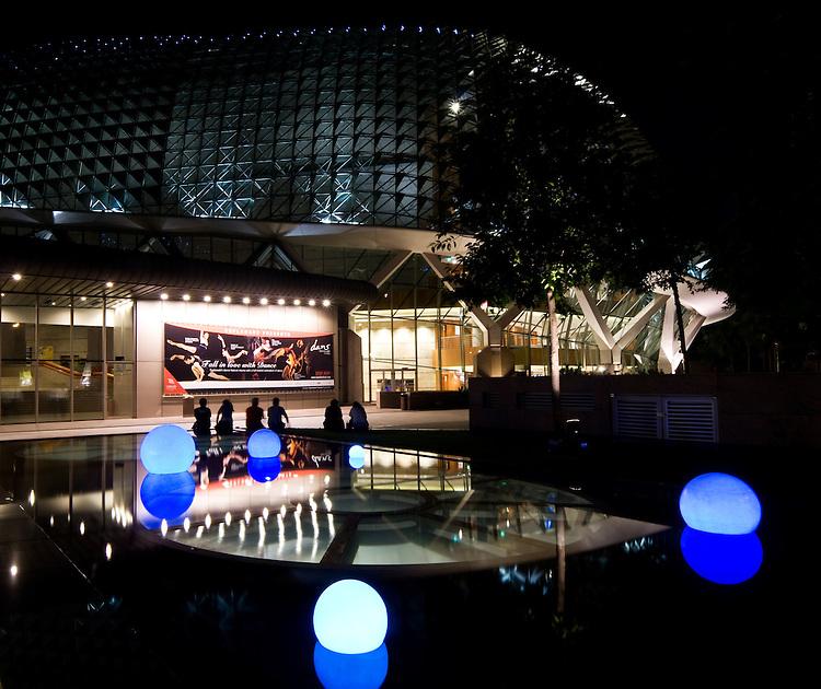 Esplanade Theatres At Night 05 - The Esplanade Theatres On The Bay at night, Marina Bay, Singapore