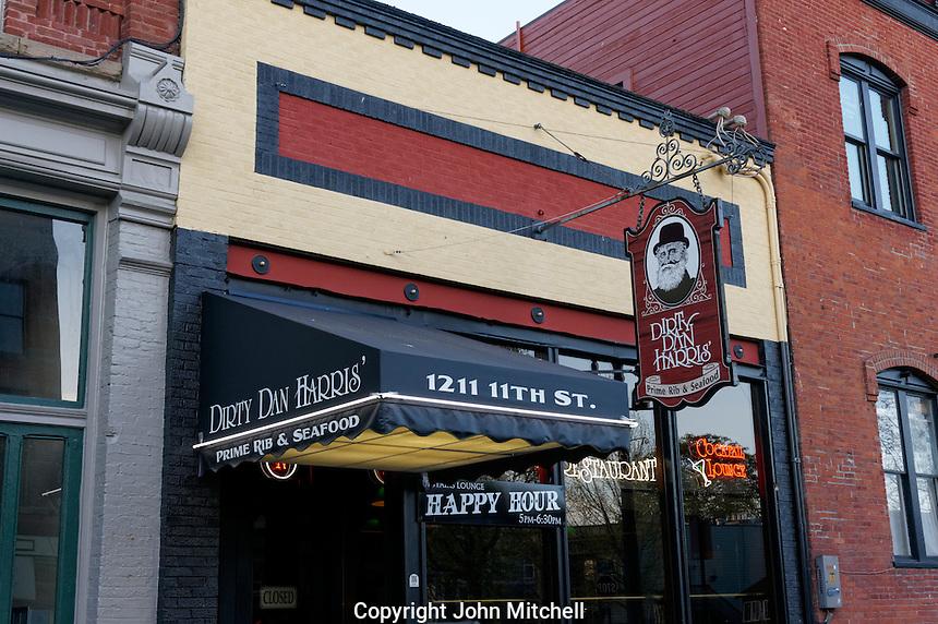 Dirty Dan Harris' restaurant in Fairhaven historical district, Bellingham, Washington state, USA