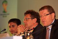 RIO DE JANEIRO, RJ, 30 DE MAIO 2012 - SORTEIO COPA DAS CONFEDERACOES - O secretario-geral da FIFA, Jerome Valcke, durante sorteio da Copa das Confederações, torneio que antecede a Copa do Mundo e que será disputado entre 15 e 30 de junho de 2013. No Hotel Sheraton, na Barra da Tijuca nesta quarta-feira, 30. (FOTO: GUTO MAIA / BRAZIL PHOTO PRESS).