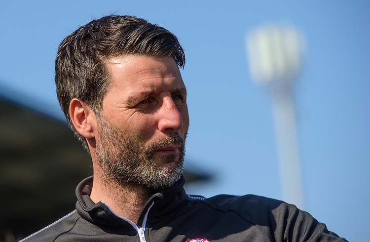 Lincoln City manager Danny Cowley<br /> <br /> Photographer Chris Vaughan/CameraSport<br /> <br /> The EFL Sky Bet League Two - Carlisle United v Lincoln City - Friday 19th April 2019 - Brunton Park - Carlisle<br /> <br /> World Copyright © 2019 CameraSport. All rights reserved. 43 Linden Ave. Countesthorpe. Leicester. England. LE8 5PG - Tel: +44 (0) 116 277 4147 - admin@camerasport.com - www.camerasport.com