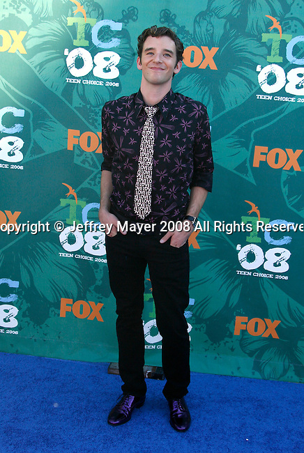 Actor Michael Urie arrives at the 2008 Teen Choice Awards at the Gibson Amphitheater on August 3, 2008 in Universal City, California.